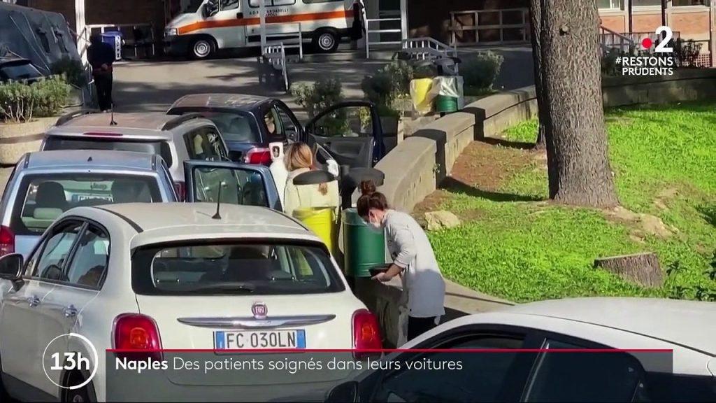 COVID-19: Les Italiens attendent de l'oxygène dans leurs voitures